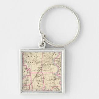 Hartford County Connecticut Key Ring