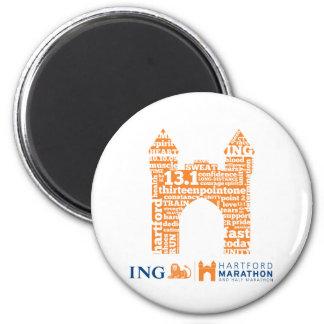 Hartford Half-Marathon: Arch 6 Cm Round Magnet