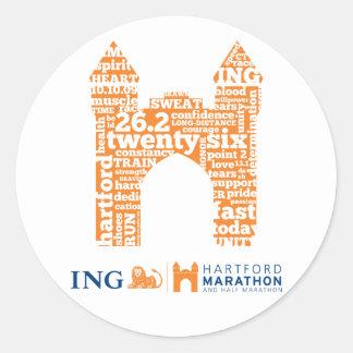 Hartford Marathon: Arch Classic Round Sticker
