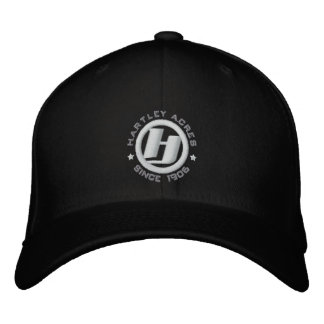 Hartley Acres / black cap Embroidered Cap