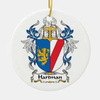 Hartman Family Crest Christmas Ornament