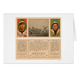 Hartsel Strikes Out Baseball 1912 Card