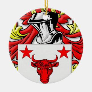 Harvard Coat of Arms Round Ceramic Decoration