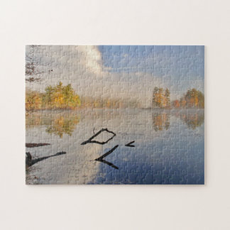 Harvard Pond Sunrise in Fall Jigsaw Puzzle