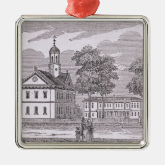 Harvard University, from 'Historical Silver-Colored Square Decoration