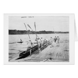 Harvard University Rowing Crew Team Photograph Greeting Card
