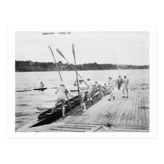 Harvard University Rowing Crew Team Photograph Postcard
