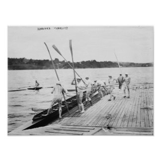 Harvard University Rowing Crew Team Photograph Poster