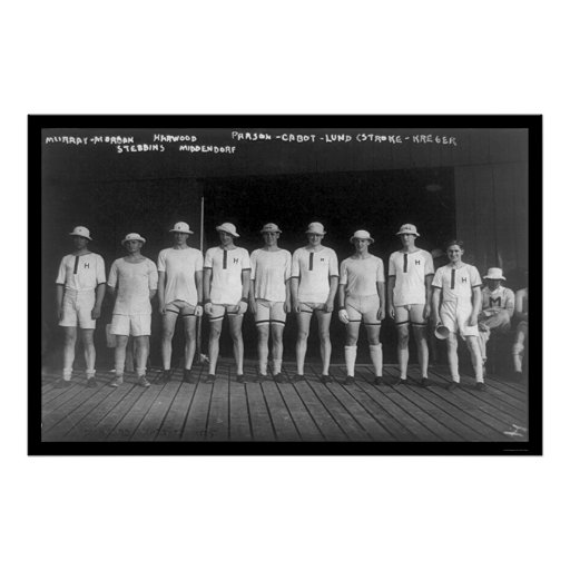Harvard Varsity Rowing Crew 1915 Posters