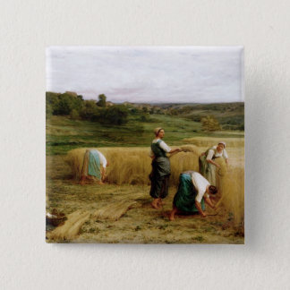 Harvest, 1874 15 cm square badge