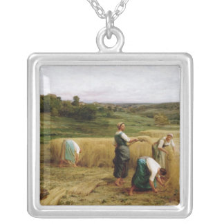 Harvest, 1874 silver plated necklace