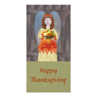 Harvest Angel, HappyThanksgiving Photo Greeting Card
