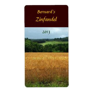 Harvest Fields Wine Label Shipping Label