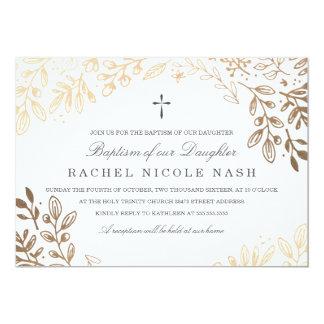 Harvest Flowers Baptism 13 Cm X 18 Cm Invitation Card