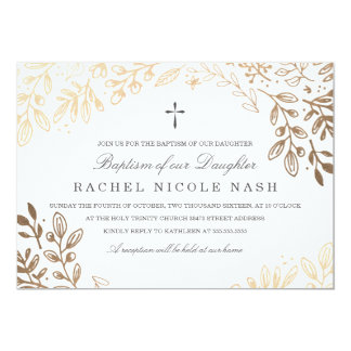 Harvest Flowers Baptism Card