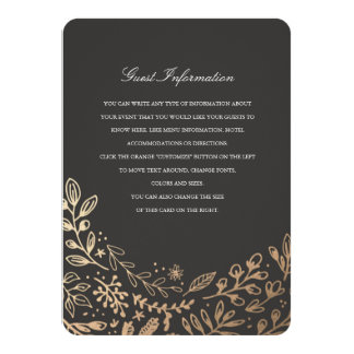 Harvest Flowers Directions/Information Card 11 Cm X 16 Cm Invitation Card