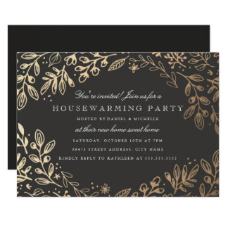 Harvest Flowers Housewarming Card