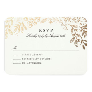 Harvest Flowers RSVP 9 Cm X 13 Cm Invitation Card