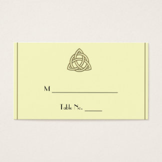Harvest Gold Celtic Knot Wedding Place Cards