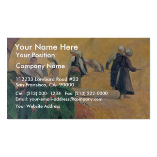 Harvest In Brittany By Paul Gauguin Best Quality Business Cards