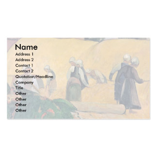 Harvest In Brittany By Paul Gauguin (Best Quality) Business Card Templates