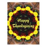 Harvest Kaleidoscope Thanksgiving Post Cards