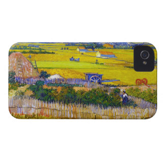Harvest Landscape with Blue Cart Vincent Van Gogh Case-Mate iPhone 4 Cases