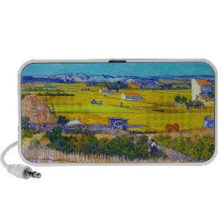 Harvest Landscape with Blue Cart Vincent Van Gogh Mp3 Speaker