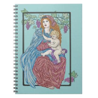 Harvest Madonna Spiral Notebooks