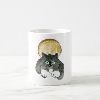 Harvest Moon and Tuxedo Cat Coffee Mug