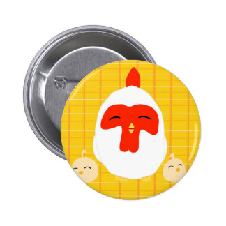 Harvest Moon Chickens 6 Cm Round Badge