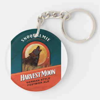 Harvest Moon Festbier Double-Sided Round Acrylic Key Ring