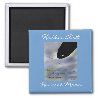 Harvest Moon Haiku Art Magnet