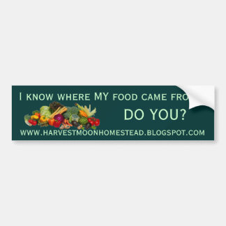 Harvest Moon Homestead Bumper Sticker