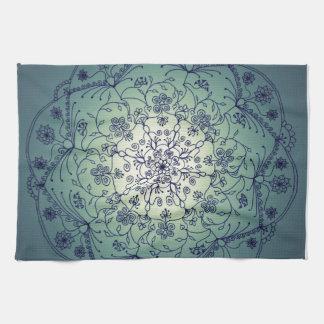 Harvest Moon Mandala - Twilight Tea Towel