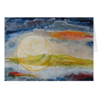 """Harvest Moon"" Note Card"