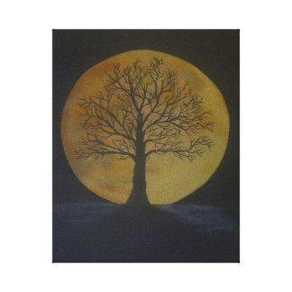 Harvest Moon Stretched Canvas Print