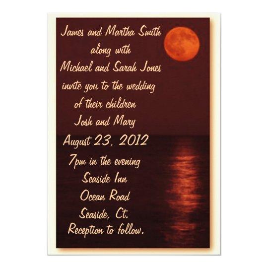 Harvest Moon Wedding Invitation