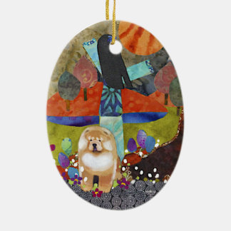 HARVEST MOONDANCE chow Christmas Ornament