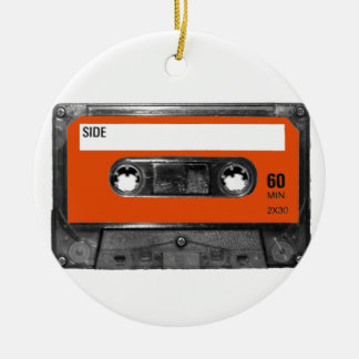 Harvest Orange Cassette Christmas Ornaments