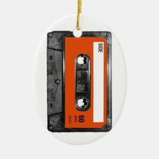 Harvest Orange Cassette Ceramic Oval Decoration