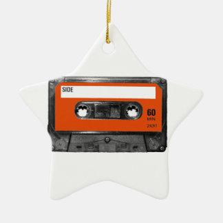 Harvest Orange Cassette Christmas Tree Ornament