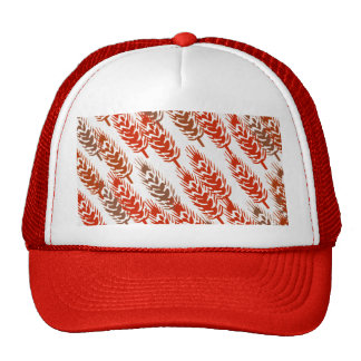 harvest pattern with wheat cap
