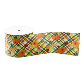 Harvest Plaid Grosgrain Ribbon