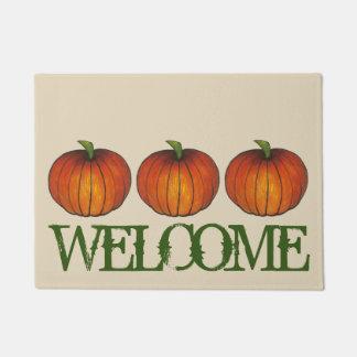 Harvest Pumpkin Autumn Fall Halloween Thanksgiving Doormat