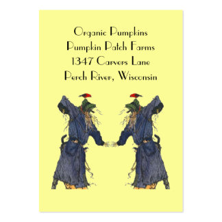 HARVEST SCARECROWS BASKET TAGS ~ GIFT TAG CARDS BUSINESS CARD TEMPLATE