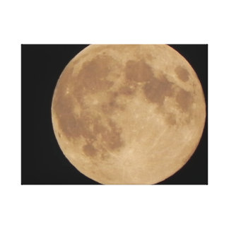 Harvest Super Moon Stretched Canvas Print