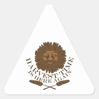 Harvest Time Triangle Sticker