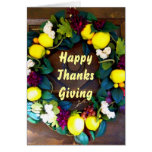 Harvest Welcome Thanksgiving card