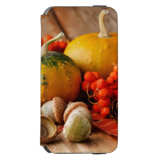 Harvested pumpkins with fall leaves 2 incipio watson™ iPhone 6 wallet case